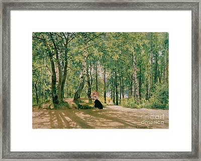 At The Summer Cottage Framed Print by Ivan Ivanovich Shishkin
