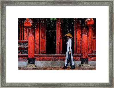 At The Temple Framed Print by Okan YILMAZ