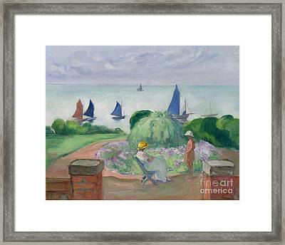 At The Terrace At Prefailles Framed Print by MotionAge Designs