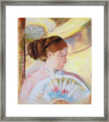 At The Theater After M Cassatt Framed Print