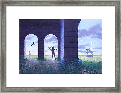 At The Threshold Framed Print by Jonathan Day