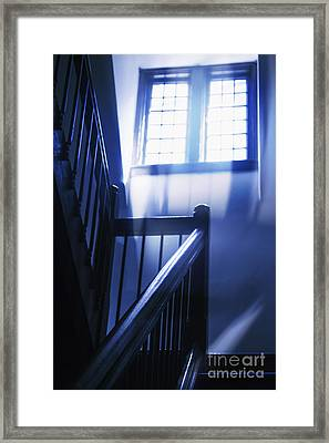 At The Top Of The Stairs Framed Print by Margie Hurwich