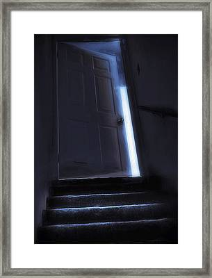 At The Top Of The Stairs Framed Print by Steve Ohlsen