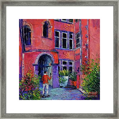 At The Tour Rose - Lyon France Framed Print