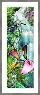At The Waterfall Framed Print by Anne Weirich