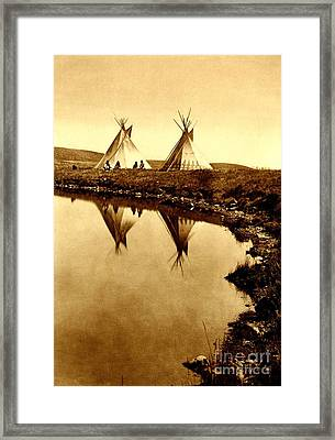 At The Waters Edge 1910 Framed Print