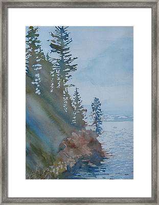 At The Water's Edge Framed Print by Jenny Armitage