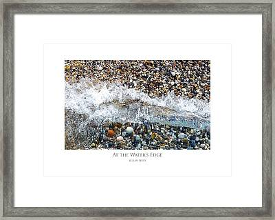 Framed Print featuring the digital art At The Waters Edge by Julian Perry