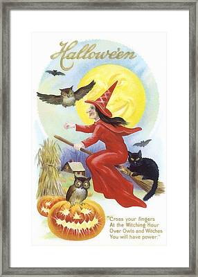 At The Witching Hour Framed Print
