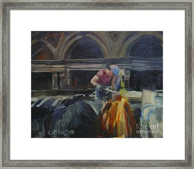 At Work Framed Print by Leila Atkinson