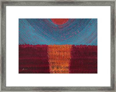 At World's Beginning Original Painting Framed Print
