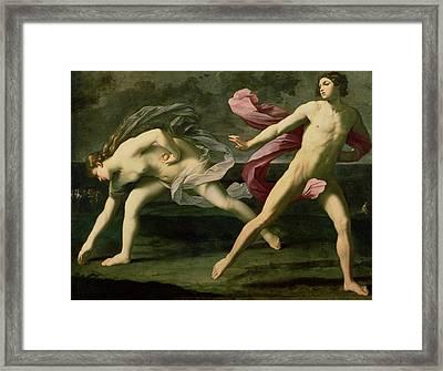 Atalanta And Hippomenes Framed Print by Guido Reni