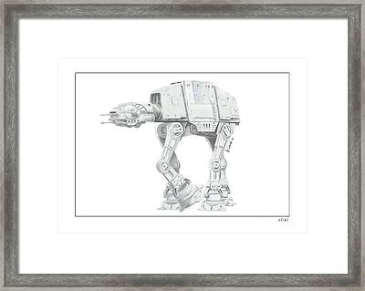 Star Wars Atat Framed Print by Andrew Collins
