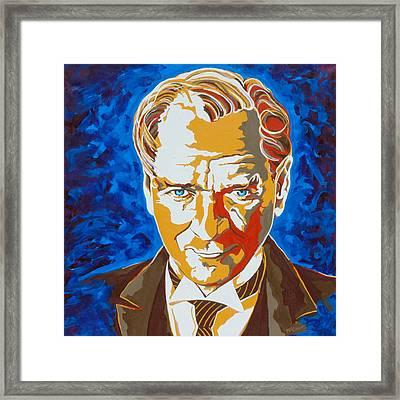 Ataturk Framed Print by Dennis McCann