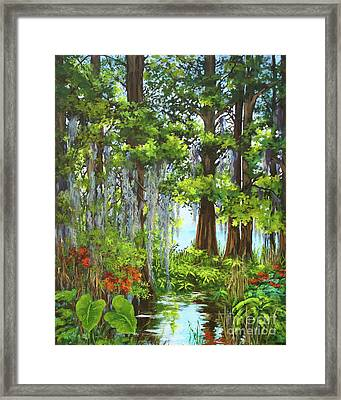 Framed Print featuring the painting Atchafalaya Swamp by Dianne Parks