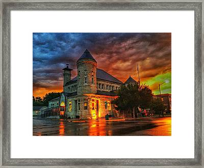 Atchison Post Office  Framed Print by Dustin Soph