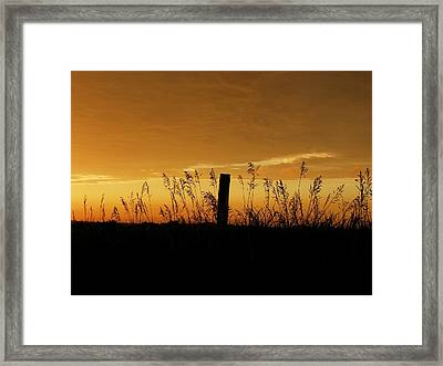 Atchison Sunset Framed Print by Dustin Soph
