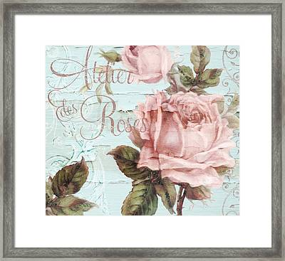 Atelier Des Roses Framed Print by Mindy Sommers