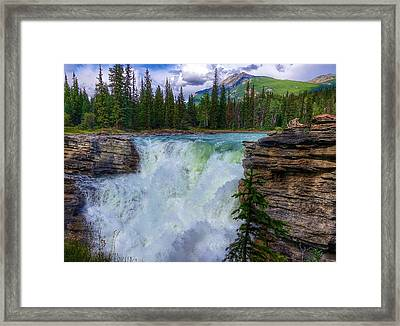 Athabasca Falls, Ab  Framed Print by Heather Vopni