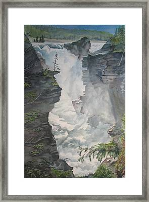 Athabasca Falls Alberta Framed Print by Debbie Homewood