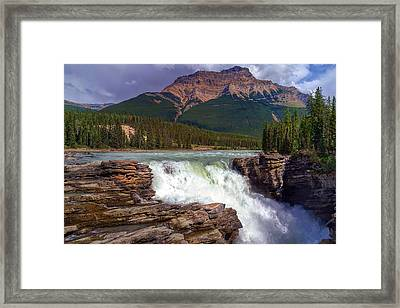 Athabasca Falls Framed Print by Heather Vopni