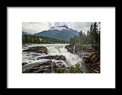 Athabasca Falls Framed Prints