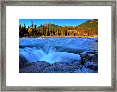 Athabasca Falls In Jasper National Park Framed Print