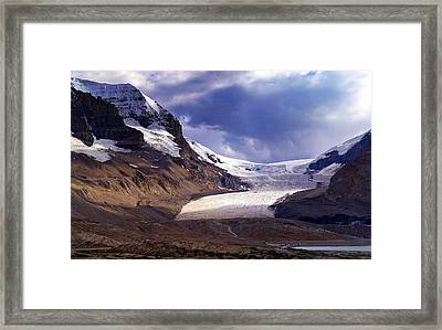 Athabasca Glacier Framed Print by Heather Vopni