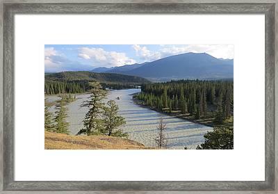 Athabasca River - Jasper Framed Print