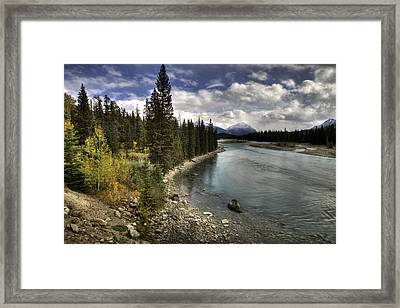 Framed Print featuring the photograph Athabasca River by John Gilbert
