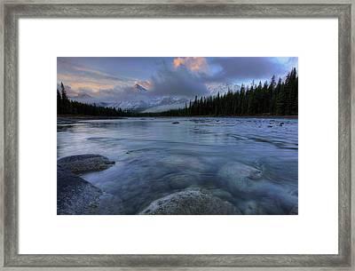 Athabasca River Sunrise Framed Print