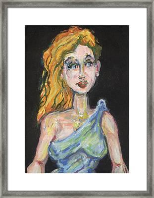 Athena Goddess Of War Framed Print
