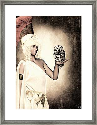 Athena Framed Print by Lourry Legarde