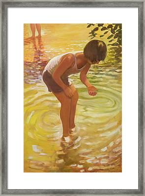 Athena Wading Framed Print