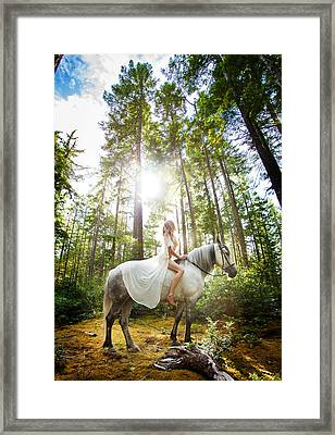 Framed Print featuring the photograph Athena's Clearing by Dario Infini