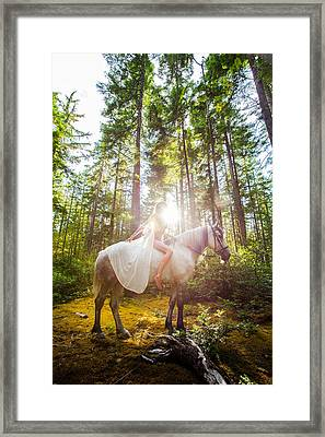 Framed Print featuring the photograph Athena's Radiance by Dario Infini