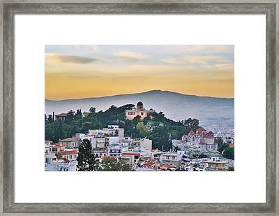 Athens - Greece Framed Print by Hristo Hristov