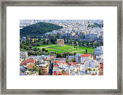 Athens - Temple Of Olympian Zeus Framed Print by Hristo Hristov