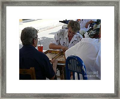 Athens Backgammon Framed Print