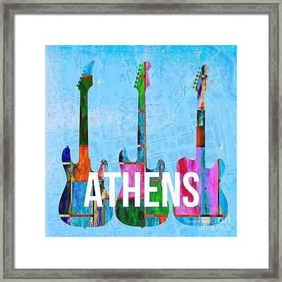 Athens Ga Music Scene Framed Print