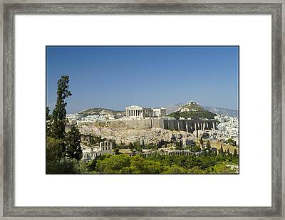 Athens Framed Print by Julia Bridget Hayes
