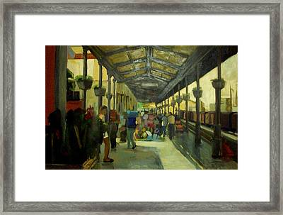 Athens Larissa Railway Station Framed Print by George Siaba