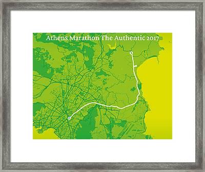 Athens Marathon #1 Framed Print