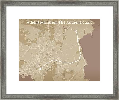 Athens Marathon #2 Framed Print