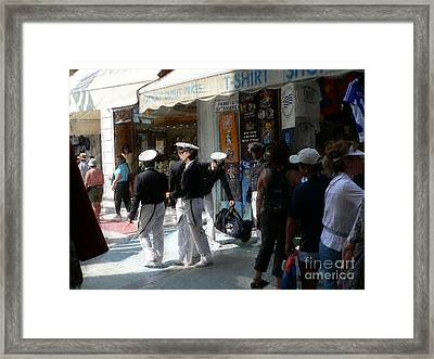 Athens Sailors Framed Print by David Bearden
