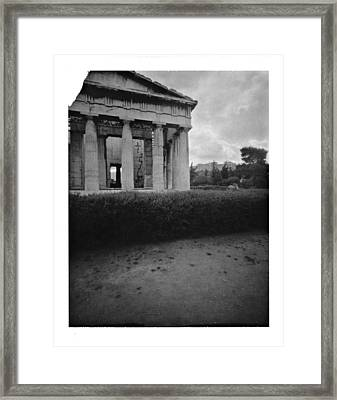 Athens Temple Of Ephesus Framed Print by Luca Baldassari