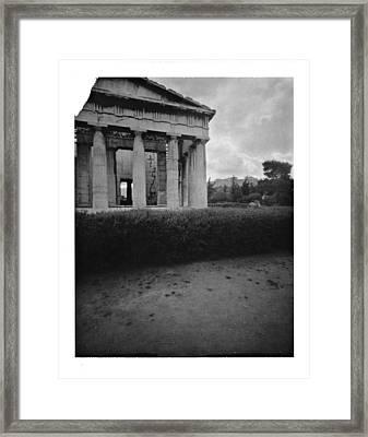 Athens Temple Of Ephesus Framed Print by Luca Baldassari