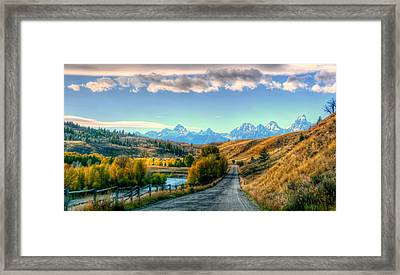 Atherton View Of Tetons Framed Print