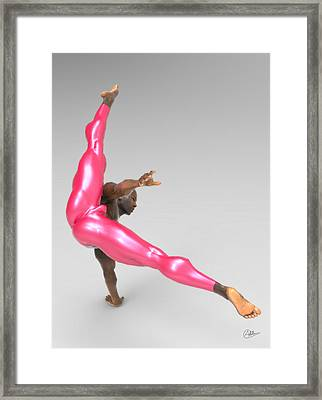 Athlete Dancer Rehearsing Framed Print