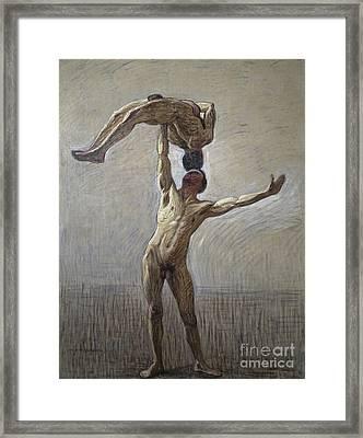 Athletes Framed Print by Eugene Jansson